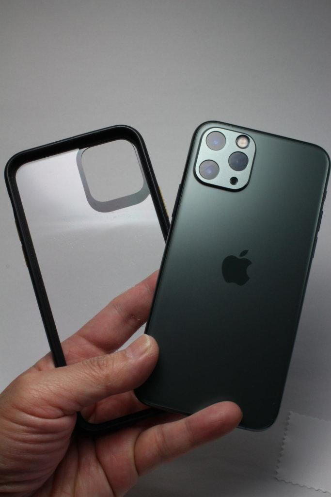 NIMASO カメラカバーNIMASO iPhone 11 Pro・11 Pro Max・iPhone 11 クリアバンパーケース との組みわせその①