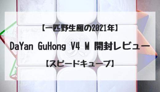 【 一匹野生雁の2021年 】 DaYan GuHong V4 M 開封レビュー【 スピードキューブ・ルービックキューブ 】